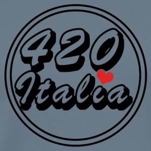 420 Logo Italy heart - Men's Premium T-Shirt