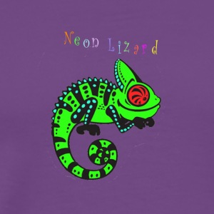Neon lizard lg - Men's Premium T-Shirt