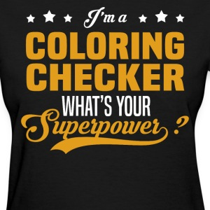 Coloring Checker - Women's T-Shirt