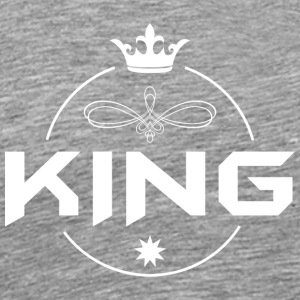 King with crown - Men's Premium T-Shirt