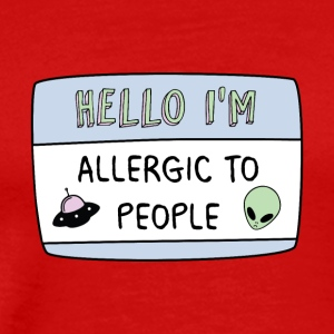 Hello I'm Allergic to People - Men's Premium T-Shirt