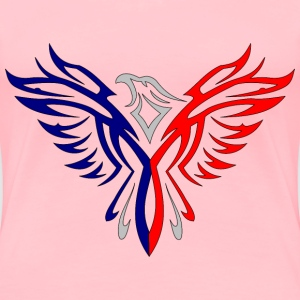 Fusion Eagle Red And Blue - Women's Premium T-Shirt