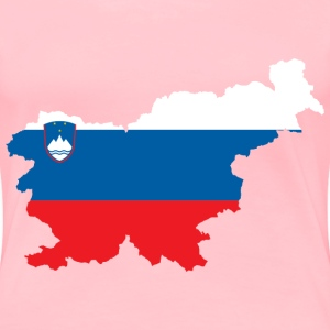Slovenia Map Flag - Women's Premium T-Shirt