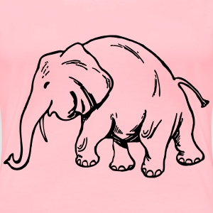Elephant 10 - Women's Premium T-Shirt