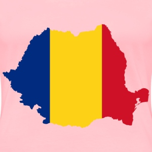 Romania Map Flag - Women's Premium T-Shirt