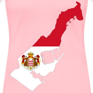 Monaco Map Flag With Coat Of Arms - Women's Premium T-Shirt