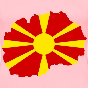 Macedonia Map Flag - Women's Premium T-Shirt