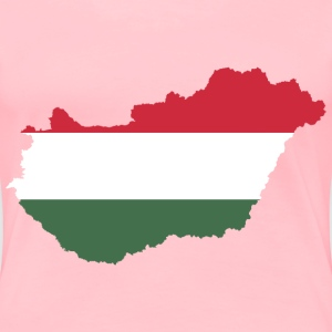 Hungary Map Flag - Women's Premium T-Shirt