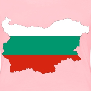 Bulgaria Map Flag With Stroke - Women's Premium T-Shirt