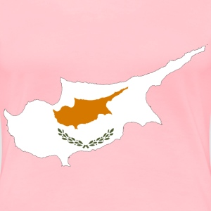 Cyprus Map Flag - Women's Premium T-Shirt
