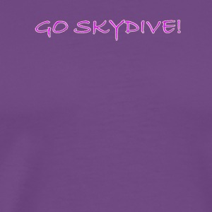Go Skydive T-shirt/BookSkydive - Men's Premium T-Shirt