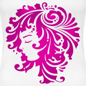 floral lady face - Women's Premium T-Shirt