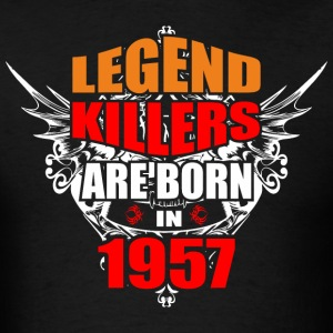 Legend Killers are Born in 1957 - Men's T-Shirt