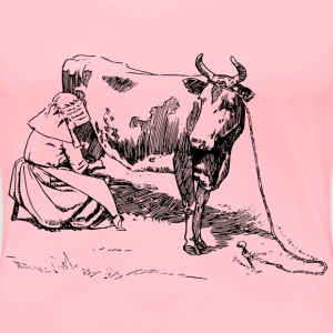 Milking the cow - Women's Premium T-Shirt