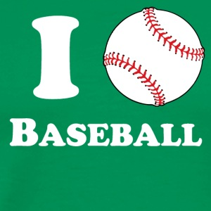 I Heart Baseball - Men's Premium T-Shirt