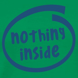 nothing inside (1823C) - Men's Premium T-Shirt