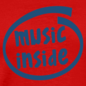 music inside (1804C) - Men's Premium T-Shirt