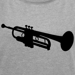 Trumpet T-Shirts - Women's Roll Cuff T-Shirt
