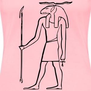 Egyptian god, Khnum - Women's Premium T-Shirt