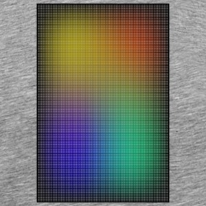 gradient colored grid out of points - Men's Premium T-Shirt