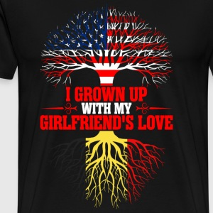 American Grown Up With My Belgian Girlfriends Love T-Shirts - Men's Premium T-Shirt