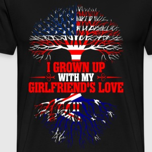 American Grown Up With My Australian Girlfriends  T-Shirts - Men's Premium T-Shirt