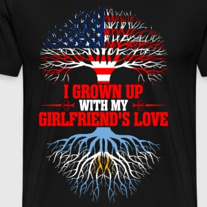 American Grown Up With My Argentinean Girlfriends  T-Shirts - Men's Premium T-Shirt