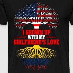 American Grown Up With My Colombian Girlfriends  T-Shirts - Men's Premium T-Shirt