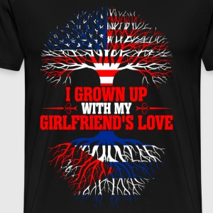American Grown Up With My Cuban Girlfriends Love T-Shirts - Men's Premium T-Shirt