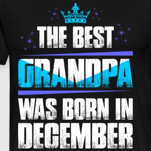 The Best Grandpa Was Born In February T-Shirts - Men's Premium T-Shirt