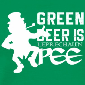 Green Beer Is Leprechan Pee Saint Patricks Day - Men's Premium T-Shirt