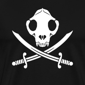 Jolly Kitty Pirate Skull, Bones ans Sabres T-Shirts - Men's Premium T-Shirt