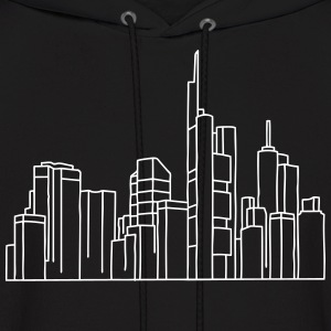 Skyline of Frankfurt Hoodies - Men's Hoodie