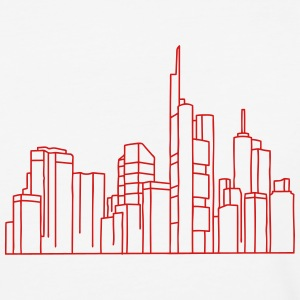 Skyline of Frankfurt T-Shirts - Baseball T-Shirt