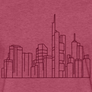 Skyline of Frankfurt T-Shirts - Fitted Cotton/Poly T-Shirt by Next Level