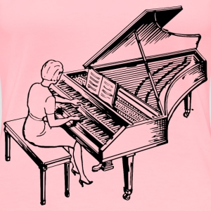 Woman playing a harpsichord - Women's Premium T-Shirt
