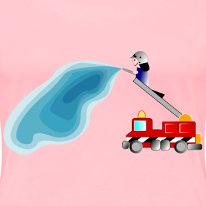 firetruck and fireman - Women's Premium T-Shirt