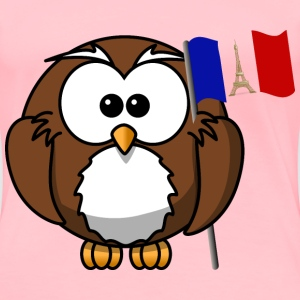 Owl with French flag - Women's Premium T-Shirt