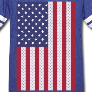 Original cross-stitch american flag T-Shirts - Vintage Sport T-Shirt