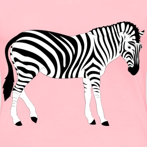 Realistic Zebra Illustration - Women's Premium T-Shirt