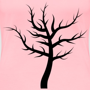 Barren Tree Silhouette 3 - Women's Premium T-Shirt