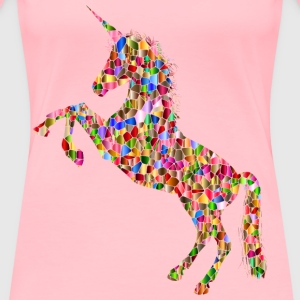 Vibrant Chromatic Unicorn Silhouette - Women's Premium T-Shirt