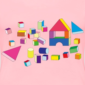 Building Block Toys - Women's Premium T-Shirt
