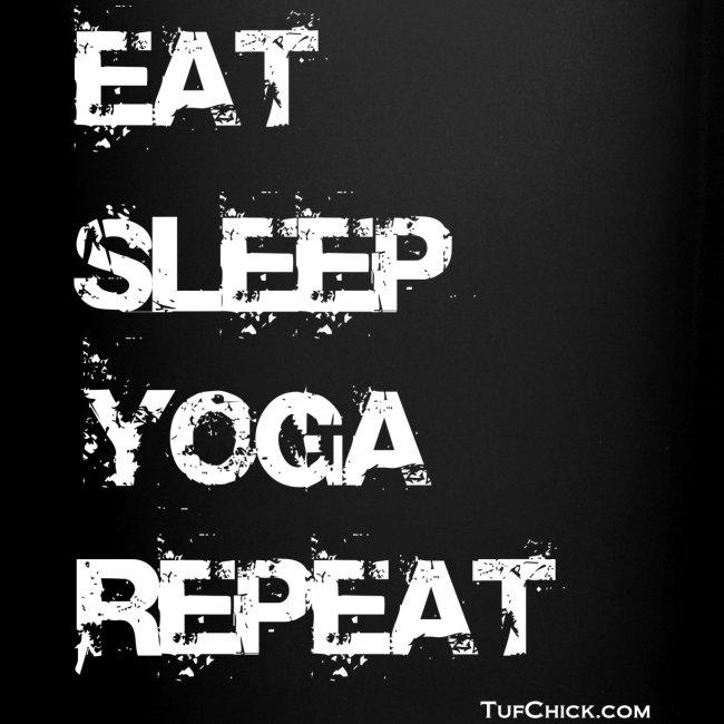 Eat Sleep Yoga Repeat Mug - Black