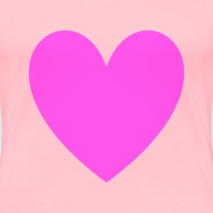 Transparent Magenta Loveheart - Women's Premium T-Shirt