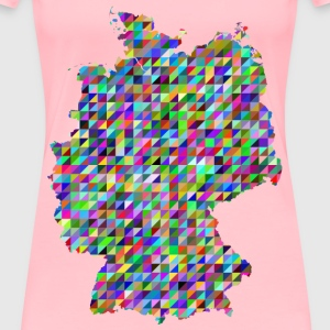 Prismatic Triangles Germany Map - Women's Premium T-Shirt