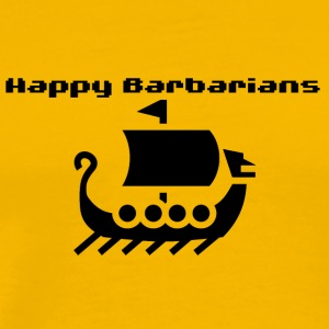 Happy Barbarians viking ship - Men's Premium T-Shirt