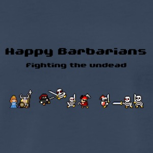 Happy Barbarians - fighting the undead - Men's Premium T-Shirt