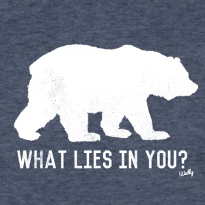 Bear - What lies in you? - Fitted Cotton/Poly T-Shirt by Next Level