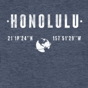 Honolulu T-Shirts - Fitted Cotton/Poly T-Shirt by Next Level